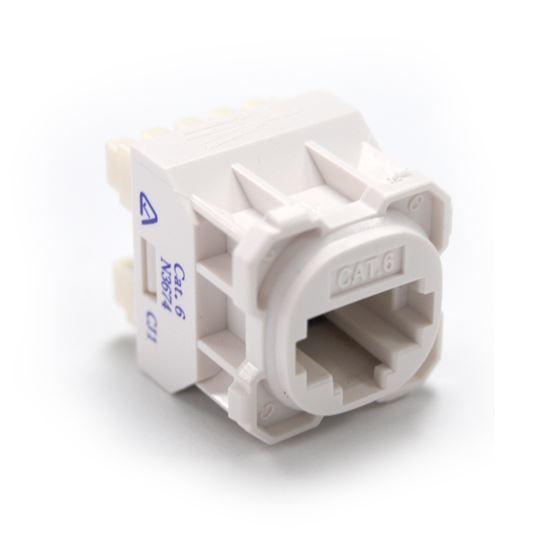 Picture of AMDEX Cat6 RJ45 Jack for AMDEX Face Plates. White
