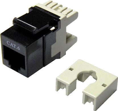 Picture of DYNAMIX Cat6 Keystone RJ45 Jack for 110 Face Plate . T568A/T568B