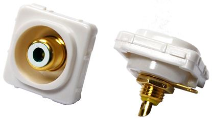 Picture of AMDEX White RCA to Solder Connector . Gold Plated
