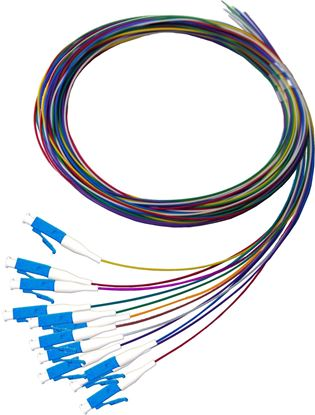 Picture of DYNAMIX 2M LC Pigtail OS2 12x Pack Colour Coded, 900um Single-mode