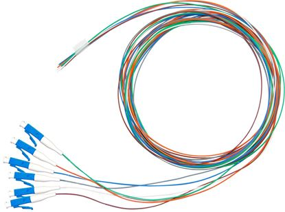 Picture of DYNAMIX 2M LC APC Pigtail OS1 6x Pack Colour Coded, 900um Single-