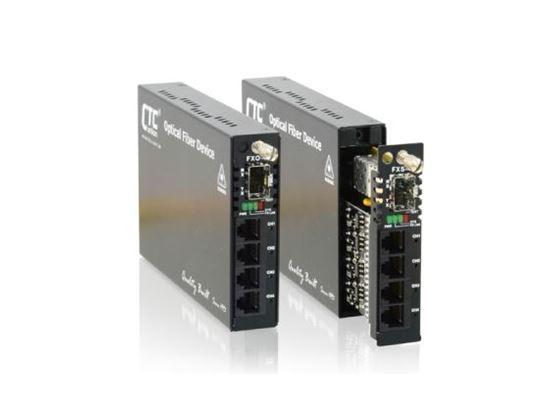 Picture of CTC UNION Multi Channel POTS Over Fibre Converter. Extend telephone