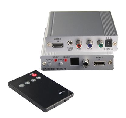 Picture of CYP Dual HDMI to HD Component Converter. ** does not carry HDCP