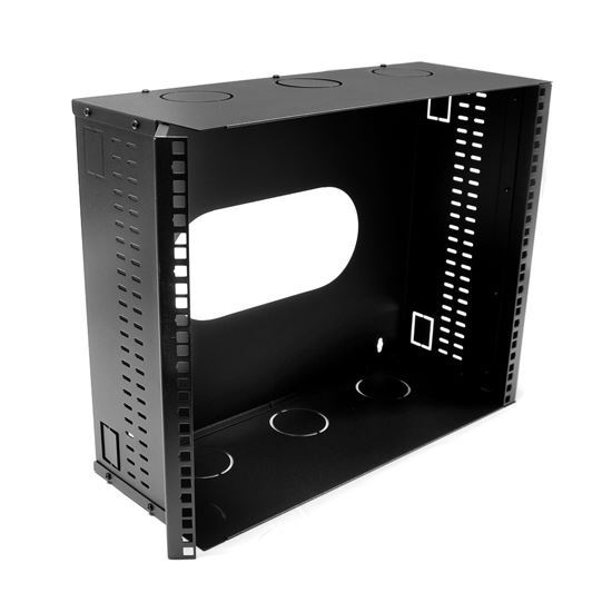 Picture of DYNAMIX 9U 200mm Deep 19' Fully Enclosed Hinged Wall Mount Bracket.