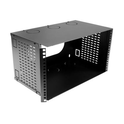 "Picture of DYNAMIX 6U 300mm Deep 19"" Fully Enclosed Hinged Wall Mount Bracket."