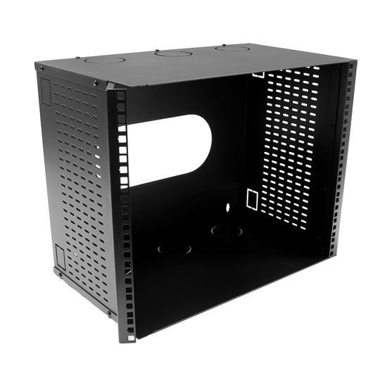 Picture of DYNAMIX 9U 300mm Deep 19' Fully Enclosed Hinged Wall Mount Bracket.