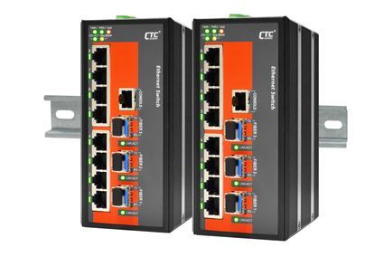Picture of CTC UNION 8 Port Fast Ethernet Managed Switch. 8x 10/100Base-T(X),