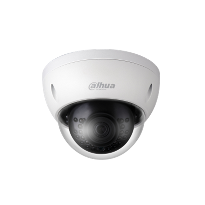 Picture of DAHUA 4MP IR Mini Dome IP Camera. 2.8mm fixed lens. Micro SD memory.
