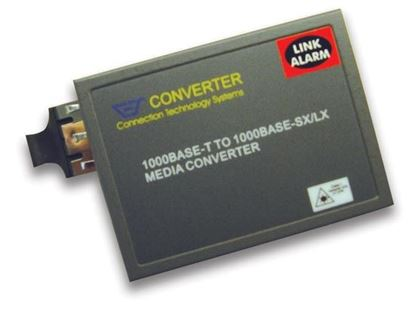 Picture of CTS Gigabit RJ45 to LX Single-Mode Fibre 10km Media Converter.