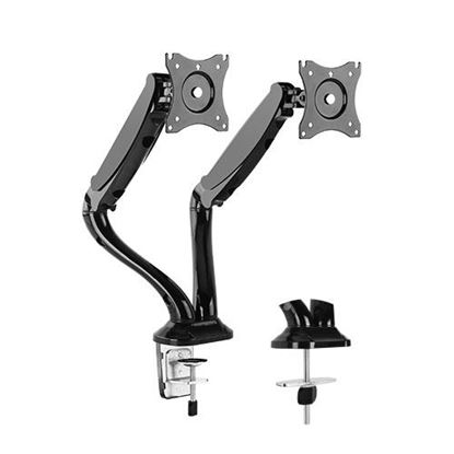 Picture of BRATECK 13'-27' Counter balance dual monitor desk mount. Max load: