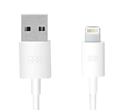 Picture of PROMATE 1.2m MFi USB cable. Apple certified sync & charge,