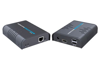 Picture of LENKENG HDMI Extender with KVM Support. Extends HDMI and USB up to