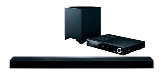 Picture of ONKYO 3D Soundbar System. Dolby Atmos & DTS:X object-based audio.