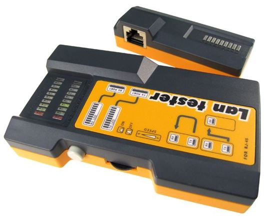 Picture of DYNAMIX RJ11/RJ45 Link Tester for UTP, STP and Modular cable type.