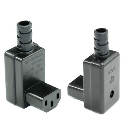 Picture of DYNAMIX Re-wire able Down Angled IEC Female C13 10A trailing socket.