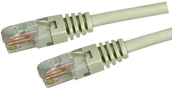 Picture of DYNAMIX 3m Cat5e Beige UTP Patch Lead (T568A Specification) 100MHz