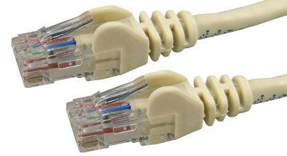 Picture of DYNAMIX 2m Cat6 Beige UTP Patch Lead (T568A Specification) 250MHz