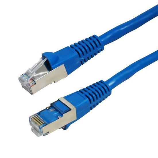 Picture of DYNAMIX 1m Cat6A Blue SFTP 10G Patch Lead. (Cat6 Augmented) 500MHz