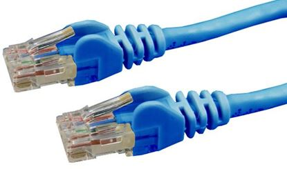 Picture of DYNAMIX 15m Cat6 Blue UTP Patch Lead (T568A Specification) 250MHz