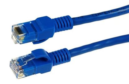Picture of DYNAMIX 3m Cat5e CCA Blue UTP Patch Lead (T568A Specification)