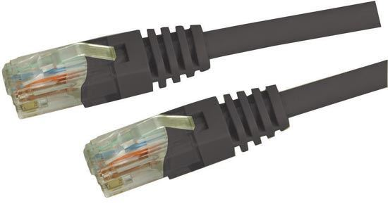 Picture of DYNAMIX 0.75m Cat5e Black UTP Patch Lead (T568A Specification) 100MHz