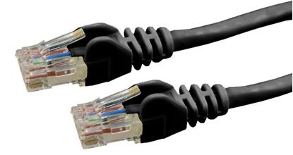 Picture of DYNAMIX 0.3m Cat6 Black UTP Patch Lead (T568A Specification) 250MHz