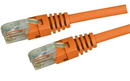 Picture of DYNAMIX 1m Cat5e Orange UTP Patch Lead (T568A Specification)