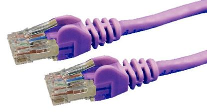 Picture of DYNAMIX 0.3m Purple Cat 6 UTP Patch Lead (T568A Specification) 250MHz