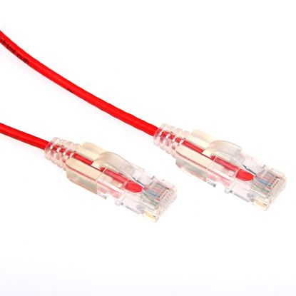 Picture of DYNAMIX 2m Cat6A 10G Red Slimline Component Level UTP