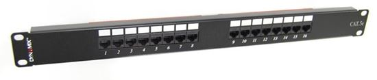 "Picture of DYNAMIX 16 Port 19"" Cat5e UTP Patch Panel, T568A & T568B"