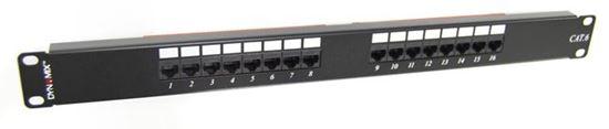 "Picture of DYNAMIX 16 Port 19"" Cat6 UTP Patch Panel, T568A & T568B"