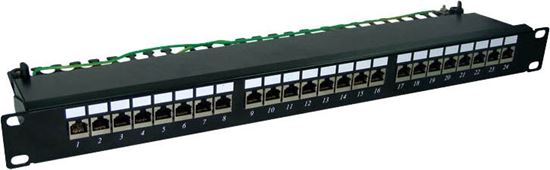 """Picture of DYNAMIX 24 Port 19"""" Cat6A Shielded Patch Panel"""