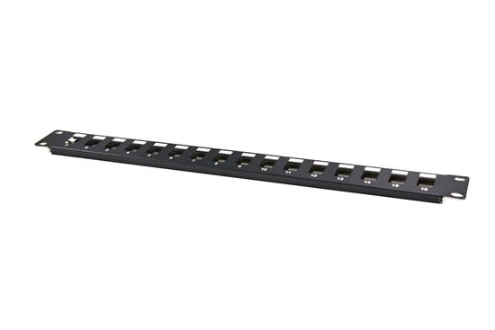 """Picture of DYNAMIX 19"""" 12 Port Unloaded Patch Panel Keystone Inserts, 1RU"""