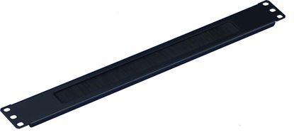 Picture of DYNAMIX 1RU 19' Brush Cable Management Bar. Black Colour.