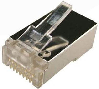 "Picture of DYNAMIX Cat6 RJ45 20pc Bag, 8P8C Modular Plug 15U"" with insert."