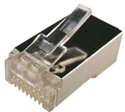 Picture of DYNAMIX RJ45 Plug 100pc Jar, 8P8C Shielded Modular. 50 micron