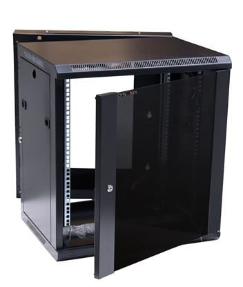 Picture of DYNAMIX LITE 9RU Swing Wall Mount Cabinet. Right hand mounted. The