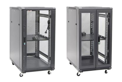 Picture of DYNAMIX 22RU Server Cabinet 600mm Deep (600 x 600 x 1190mm). Incl. 1x