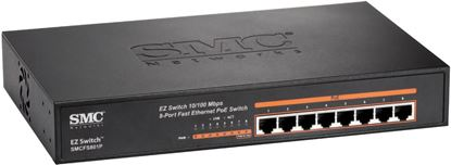 Picture of SMC 8 Port Fast Ethernet PoE Switch. Max. PoE Power Budget
