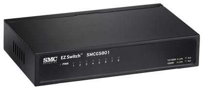 Picture of SMC 8 Port Gigabit Unmanaged Switch 10/100/1000Mbps. Compact desktop