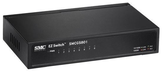 Picture of SMC 8 Port Gigabit Unmanaged Switch 10/100/1000Mbps. Compact desktop