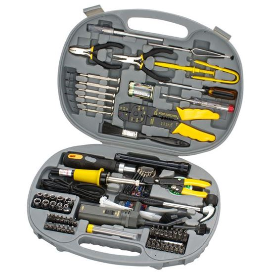 Picture of SPROTEK 145 Piece Computer Tool Kit. Includes Tamper screw bits.