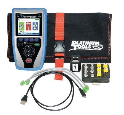 Picture of PLATINUM TOOLS Net Prowler Cabling & Network Tester. Supports IPv4/v6.