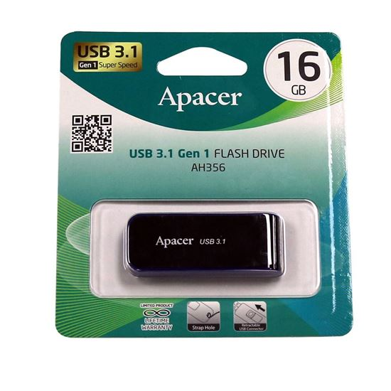Picture of Apacer 16GB USB 3.1 Gen 1 Super Speed Flash Drive. Strap hole,