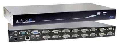 Picture of REXTRON 1 Port IP KVM Switch plus 16x port USB & PS2x KVM switch.