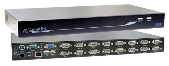 Picture of REXTRON 1 Port IP KVM Switch plus 16x port USB & PS2x KVM switch