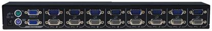 Picture of REXTRON 1-8 USB/PS2 Dual Video (VGA) KVM Switch.  8x 1.8m USB