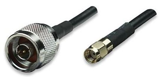 Picture of DYNAMIX 1m N-Type to RP-SMA Male to Male Cable, RG58/U