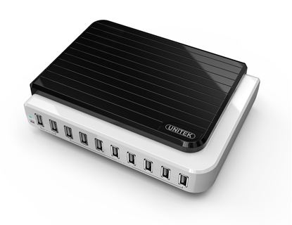 Picture of UNITEK 10port USB Charging Station 8x 5V/2.4A & 2x 5V/1A simultaneous