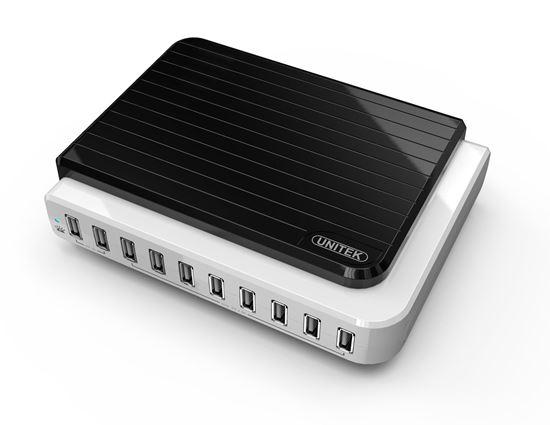 Picture of UNITEK 10 port USB Charging Station 8x 5V/2.4A & 2x 5V/1A simultaneous